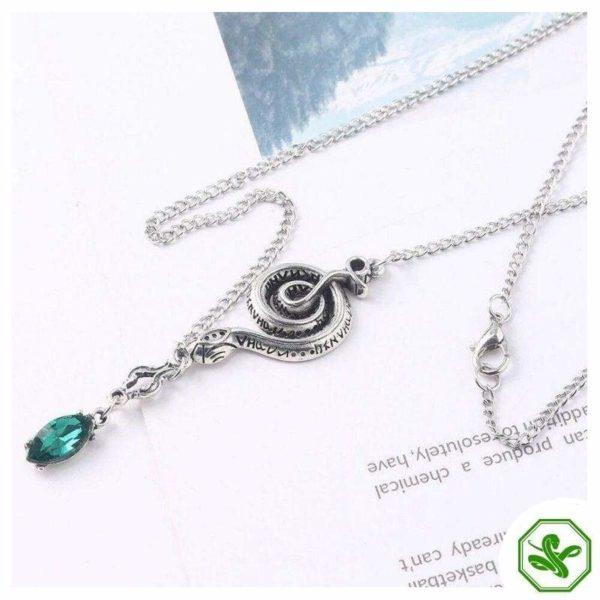 Snake Chain Necklace With Pendant 4