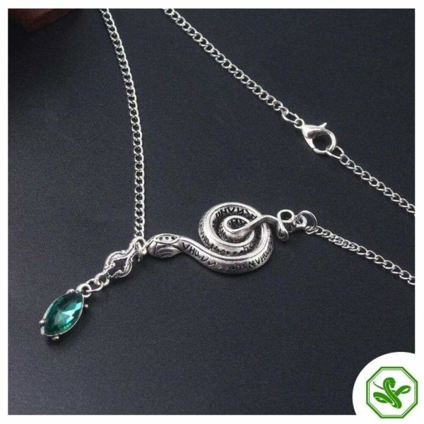 Snake Chain Necklace With Pendant 2