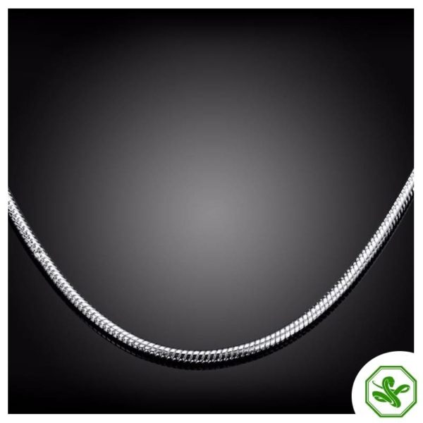 silver snake chain for woman
