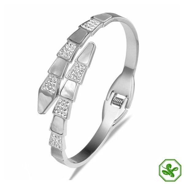 silver snake bracelet enchant