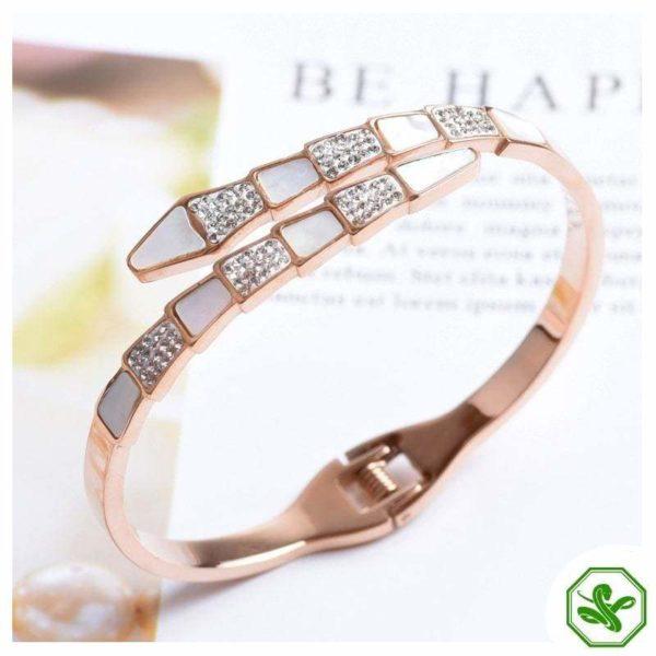 pink snake bracelet