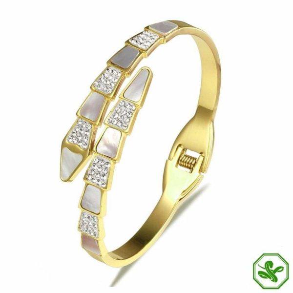 gold snake bracelet enchant