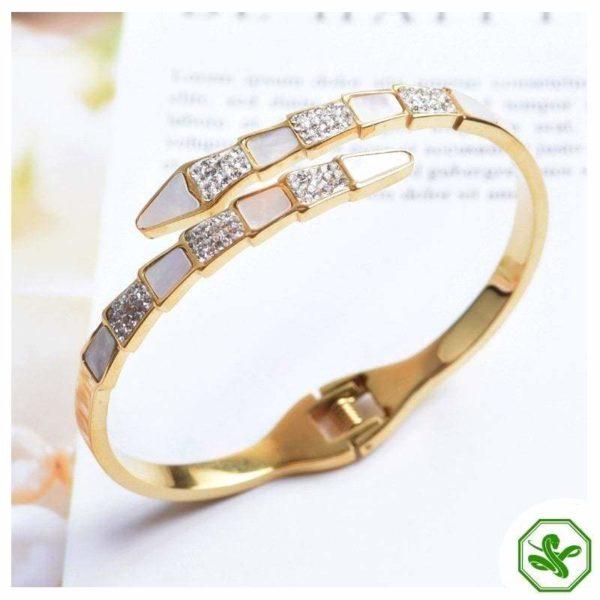 gold snake bracelet wedding