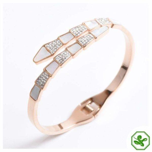 pink snake bracelet wedding