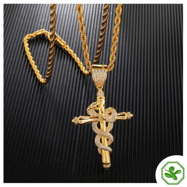 Snake Cross Necklace 4