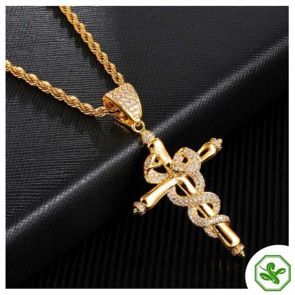 Snake Cross Necklace 5