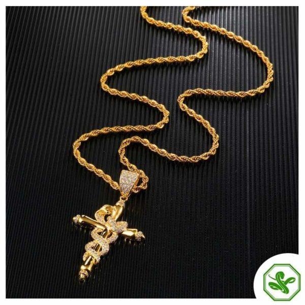 Snake Cross Necklace 3