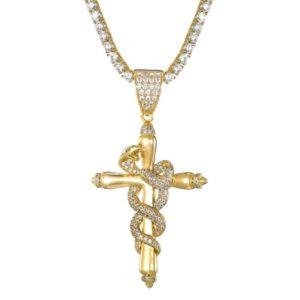 Snake Cross Necklace 1