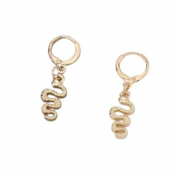 snake drop earrings