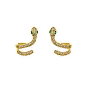 Snake Earrings Studs 1