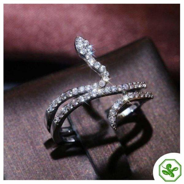 snake ring with slender neck
