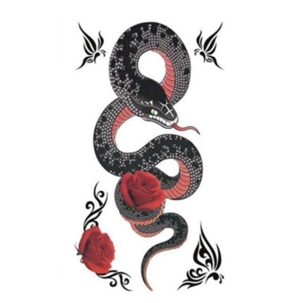Snake Flower Tattoo 1