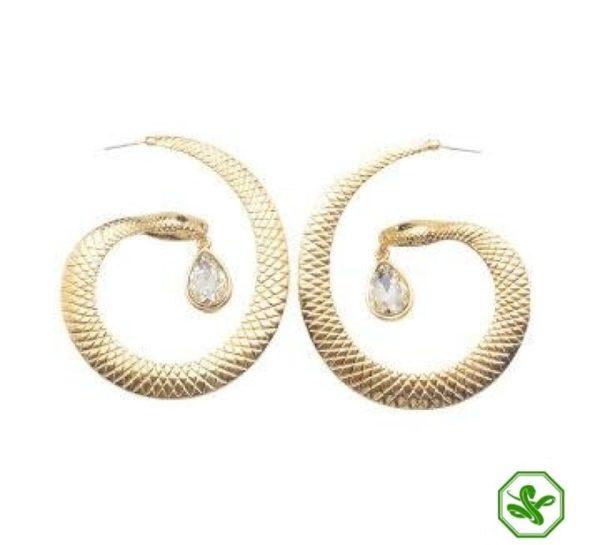 Snake Hoop Earrings 7