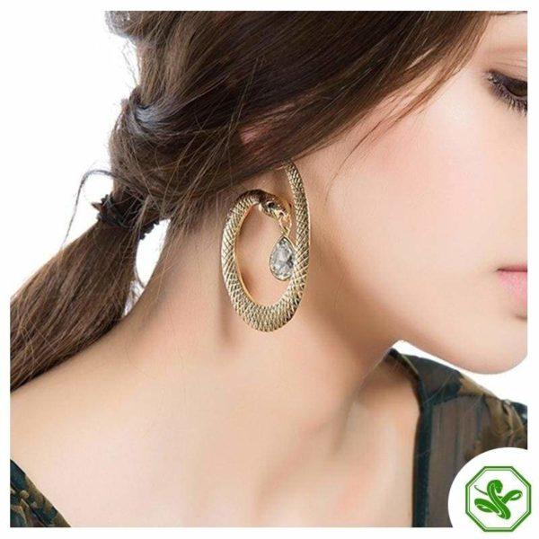 snake hoop earring