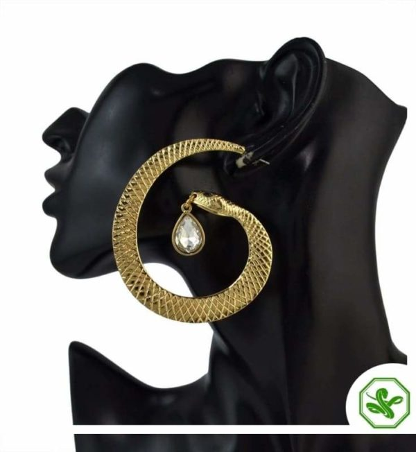 snake hoop earrings gold