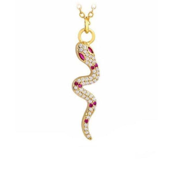 Snake Necklace Diamond 1