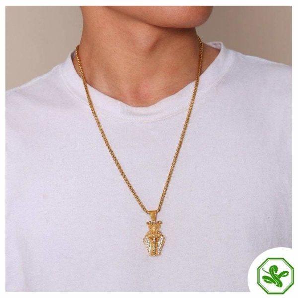 gold snake necklace for men