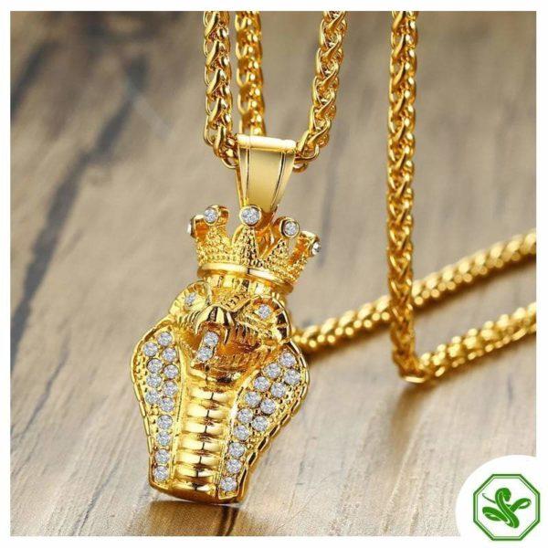 snake pendant for men
