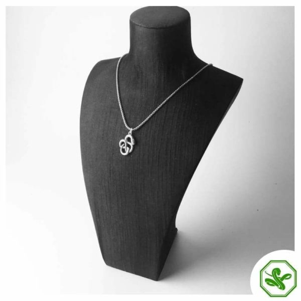 knotted snake pendant