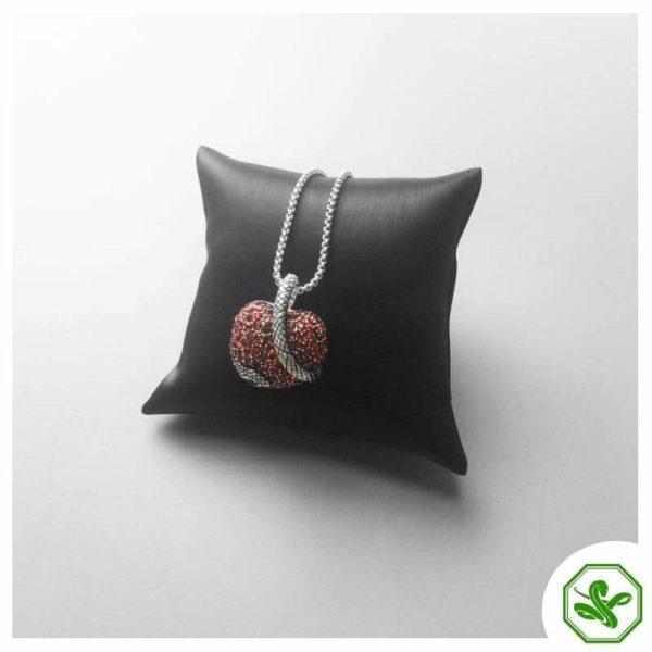 red heart snake pendant