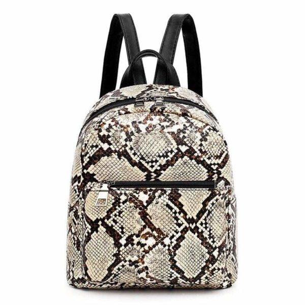 Snake Print Backpack 1