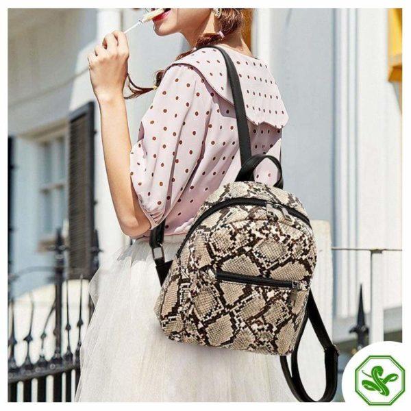 Snake Print Backpack 2