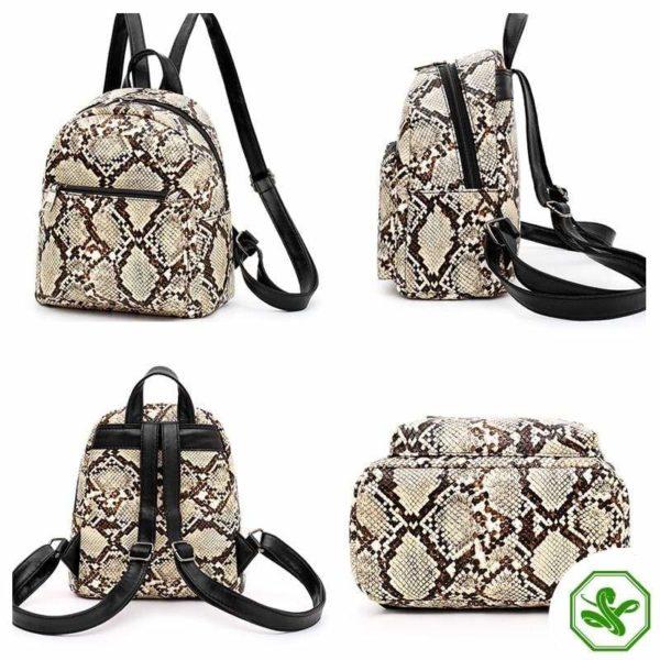 Snake Print Backpack 5