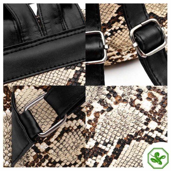 Snake Print Backpack 3
