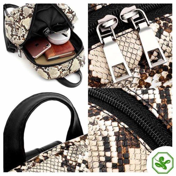 Snake Print Backpack 4