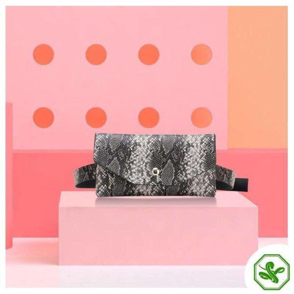Snake Print Belt Bag 4