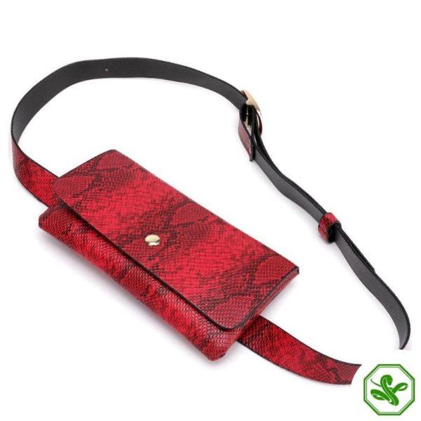 Snake Print Belt Bag 10
