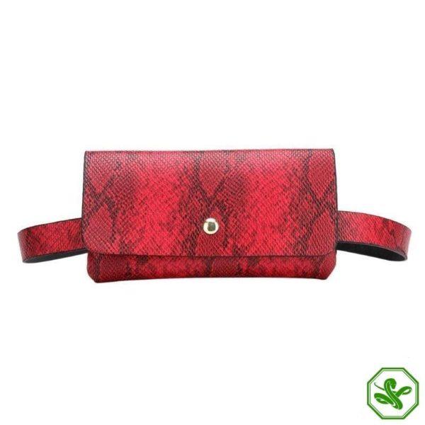 Snake Print Belt Bag 7