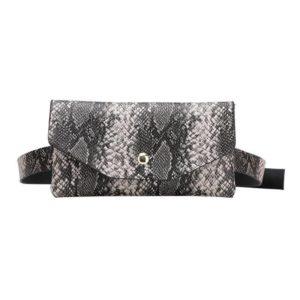Snake Print Belt Bag 1