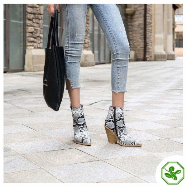 Snake Print Boots for Woman