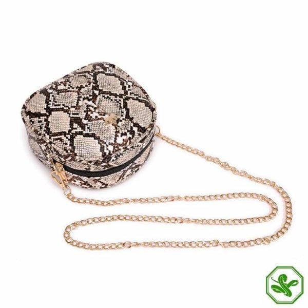 Snake Print Chain Bag 2