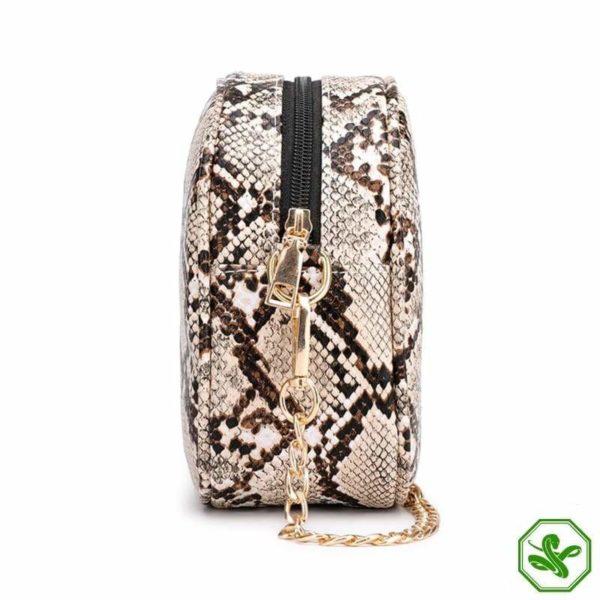 Snake Print Chain Bag 5