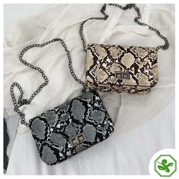 Snake Print Crossbody bag for Woman