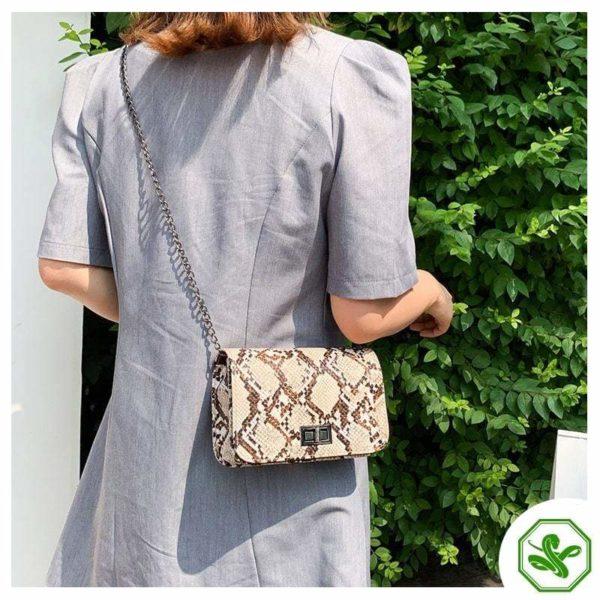 Women's Snake Print Crossbody bag
