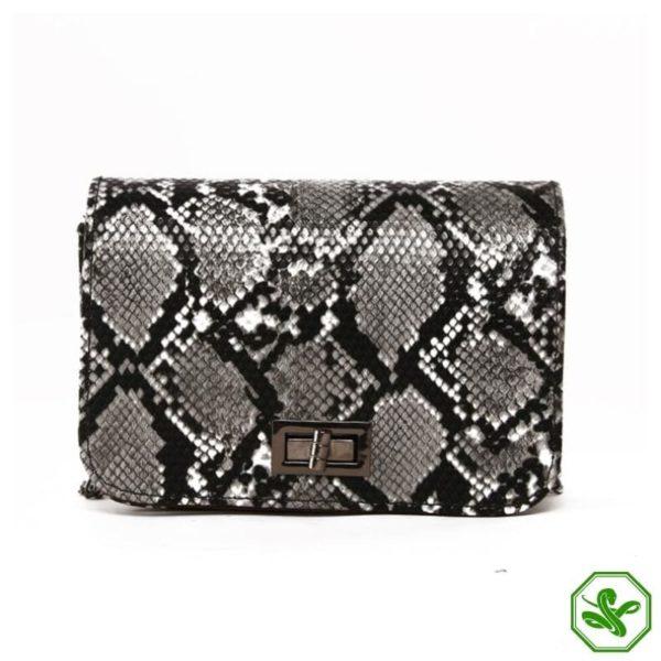 Snake Print Crossbody Bag for Women