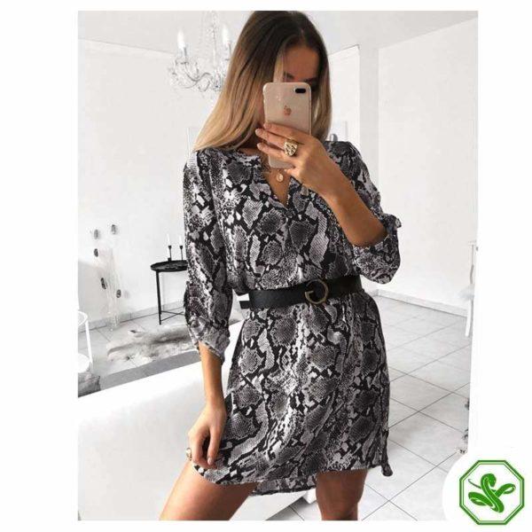 Snake Print Dress Outfit Women's