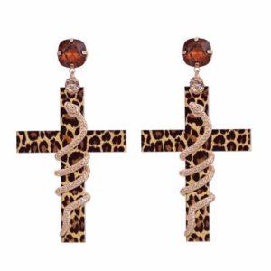 snake print earrings