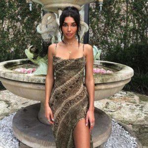 Women's Snake Print Formal Dress