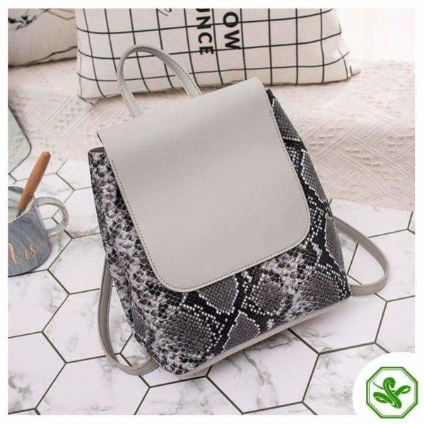 Snake Print Mini Backpack 2