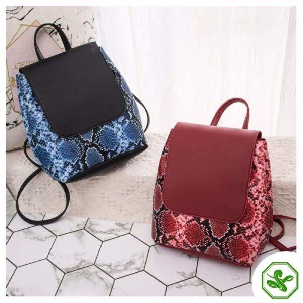 Snake Print Mini Backpack 11