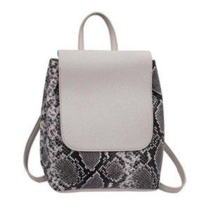 Snake Print Mini Backpack 1