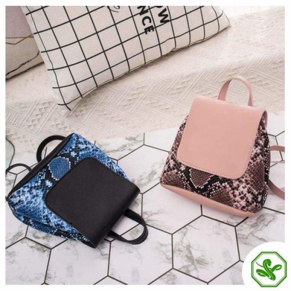 Snake Print Mini Backpack 14