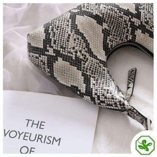 snake print shoulder bag for woman