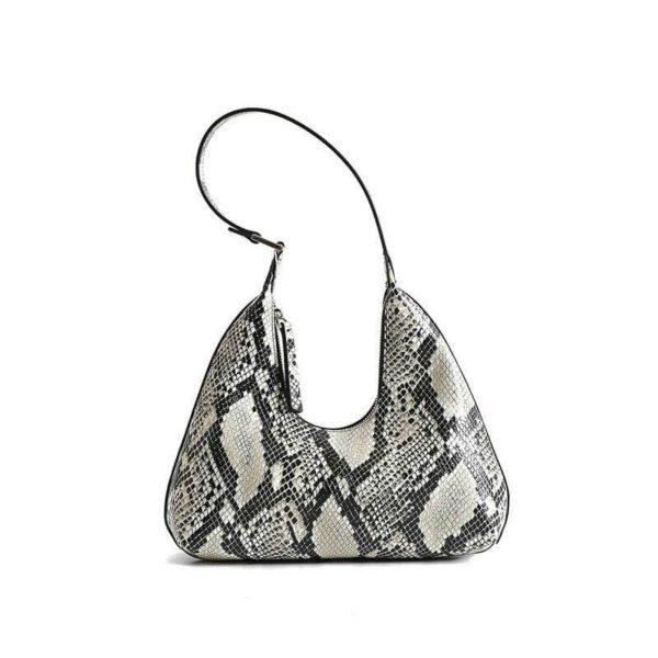 snake print shoulder bag