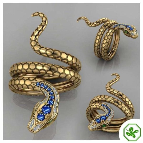 Snake Ring Emerald Eyes 4