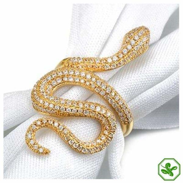 Snake Ring Gold Diamond 2